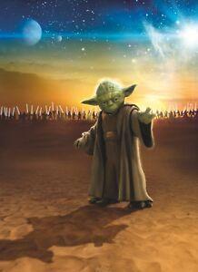 Paper-wallpaper-184x254cm-STAR-WARS-Master-Yoda-wall-mural-childrens-room