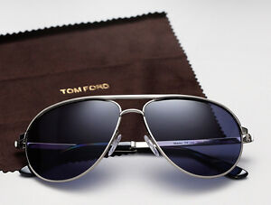 0fac6d3d13f JAMES BOND 007 SKYFALL Blue TOM FORD Aviator Marko Sunglasses TF 144 ...