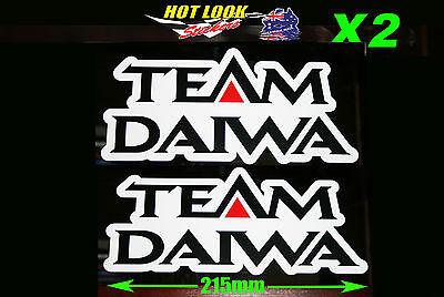 Team Daiwa X2 Reel Rod Sticker Vinyl Decal for boat Fishing tackle Box