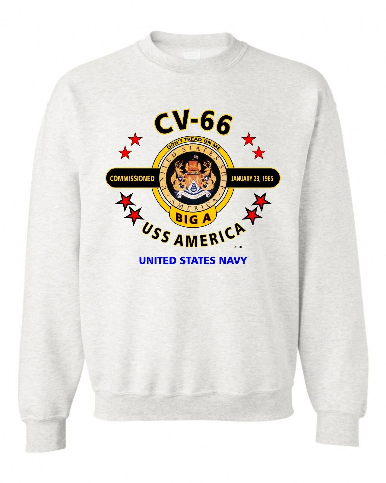 USS AMERICA CV-66  THE BIG A  WORLD'S SWEATSHIRT GREATEST NAVY  SWEATSHIRT WORLD'S 6d8d75