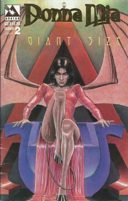 DONNA MIA GIANT SIZE #2 GOLD LOGO VG (Avatar Press, 1997) original Comic Book