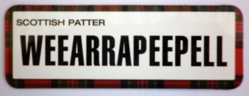 "Patter Fridge Magnets /""WEEARRAPEEPELL/"" Unique /& Funny SCOTLAND Souvenirs"
