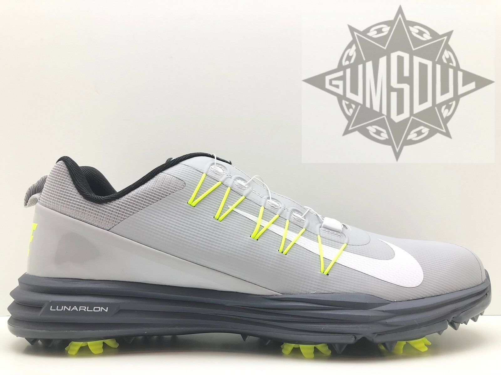 NIKE LUNAR COMMAND 2 BOA WOLF GREY WHITE VOLT GOLF SHOES 888552 005 Price reduction Special limited time
