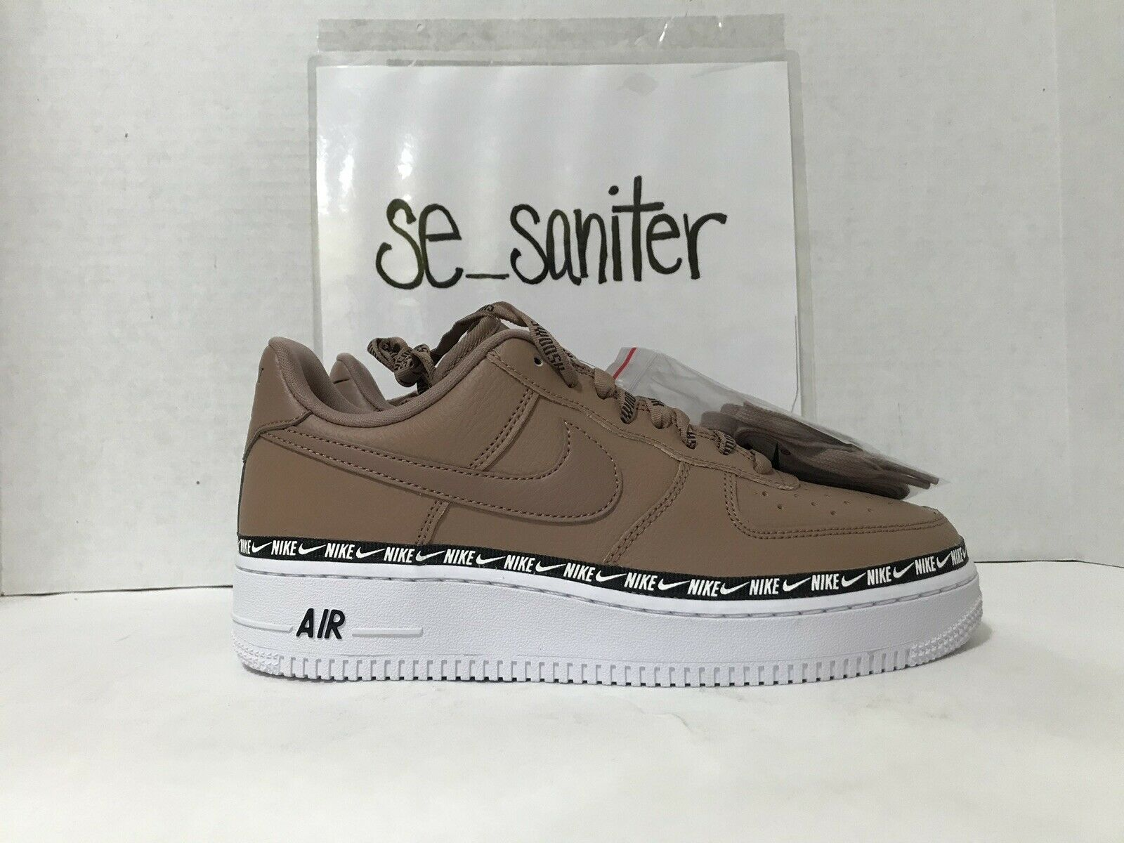 Nike Women's Air Force 1 07 SE PRM Ribbon Pack Desert Dust AH6827 201 Size 11
