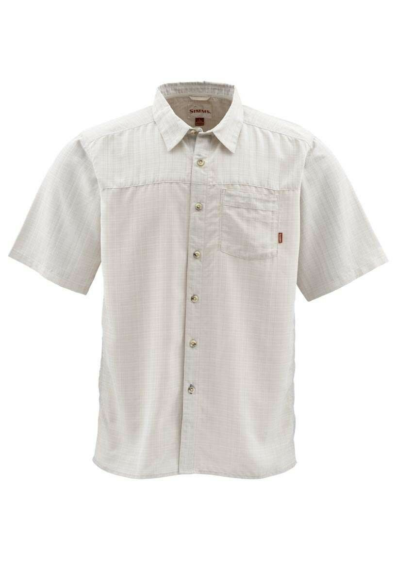 Simms LONG HAUL Short Sleeve Shirt  Stone NEW  Closeout Size Large