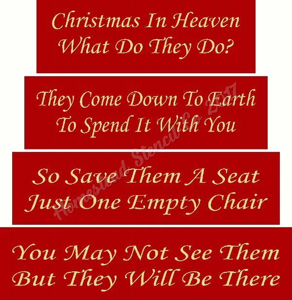 Christmas In Heaven Poem With Chair Printable.Christmas In Heaven Plaque And Chair Fred And Bo Special