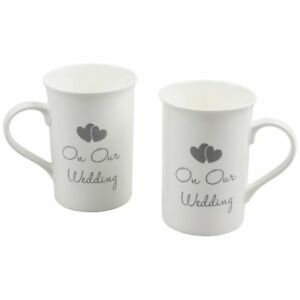034on Our Wedding034 Set Of 2 Bridal 034His and Hers034 Fine China Keepsake Mugs in - York, United Kingdom - 034on Our Wedding034 Set Of 2 Bridal 034His and Hers034 Fine China Keepsake Mugs in - York, United Kingdom