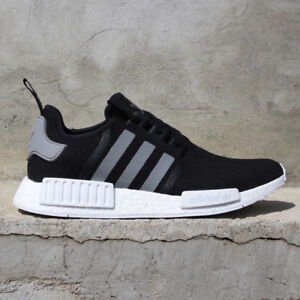 8b2b6cabc2970 Image is loading adidas-Originals-NMD-R1-S31504-Black-Charcoal-Gray-