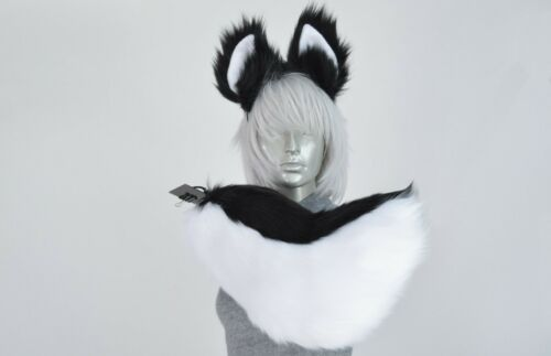 Deluxe Husky or Wolf Tail and Ears Cosplay Christmas! Other Colors Available!