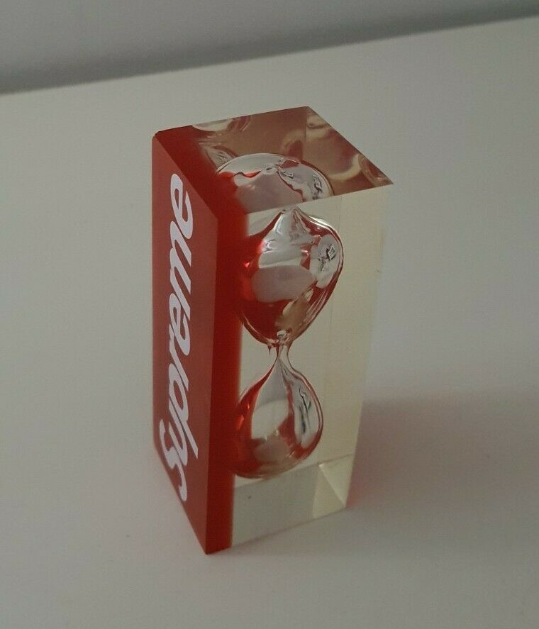 Rare SS15 Supreme sand timer red box logo