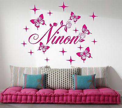 Sticker 3 Minnie personnalisé prénom fille plusieurs tailles et couleurs dispo