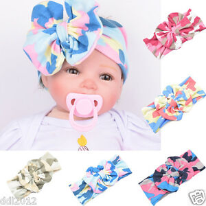 Baby-Infant-Kids-Girls-Bowknot-Hairband-Cotton-Turban-Bowknot-Headwrap-Hairband