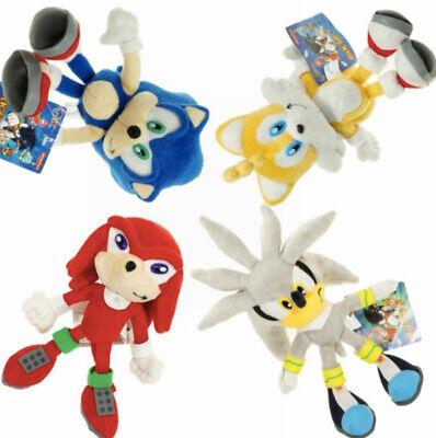 Sonic The Hedgehog Plush Knuckles Silver Tails Stuffed Teddy Bear Soft Toy Anime Ebay