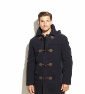 NWT-RALPH-LAUREN-Mens-Toggle-Hooded-Cashmere-blend-Overcoat-44R-or-48R-Navy-650