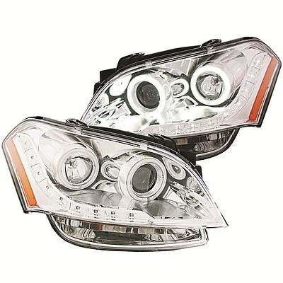 Anzo USA 221045 Honda Civic Halo Chrome Tail Light Assembly Sold in Pairs