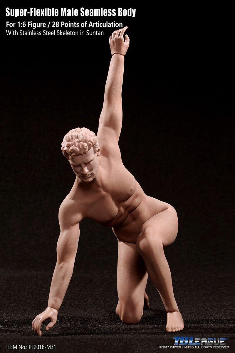 Tbleague pl2016-m31 1   6 flexible hohe dünne männlichen körper kraftprotz abbildung