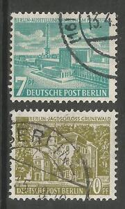 ALLEMAGNE-BERLIN-1954-Changed-Inscription-Definitif-Ensemble-SG-B118-19