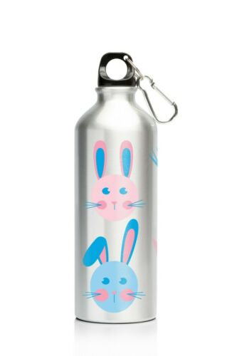 NEW My Family 500ml Stainless Steel Drink Bottle Bunny Rabbit Design w Carabiner
