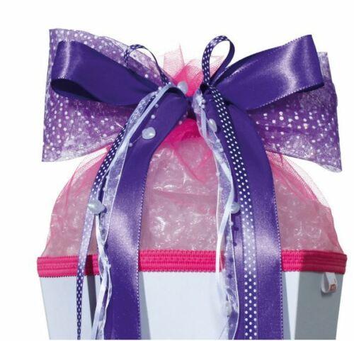 Roth Pink Glamour  50cm x 23cm Schultütenschleife Zuckertüte LED Schleife