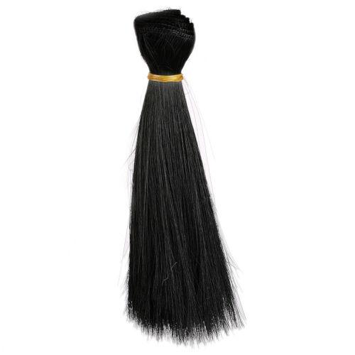 Black Straight Hair Extension//DIY Hair Wig BJD Dollfie 1pc wamami
