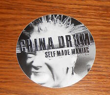 "China Drum Self Made Maniac Sticker Circle Promo 3"" Punk Rock"