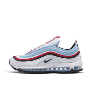 Men-039-s-Nike-Air-Max-97-Casual-Shoes-White-University-Red-Psychic-Blue-CW6986-100
