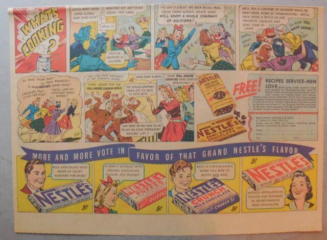 NESTLE'S barres de chocolat AD: Court préavis Invités! 1930's-1940's 11 x 15 in (environ 38.10 cm)