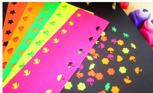 8// 50Pcs DIY Paper Punch Cutter Printing Hand Shaper Scrapbook Tags Cards