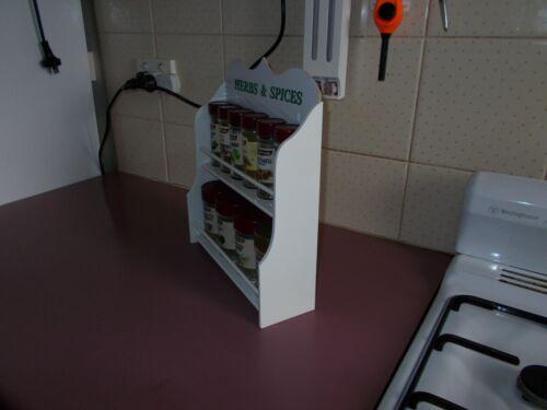 Spice Rack 10 to 16 jar HERB /& SPICE IN White New Design made in OZ