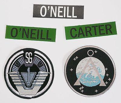 STARGATE SG-1 - Team Uniform Patch Set: SG-1, Earth Chevron & Name Tape...