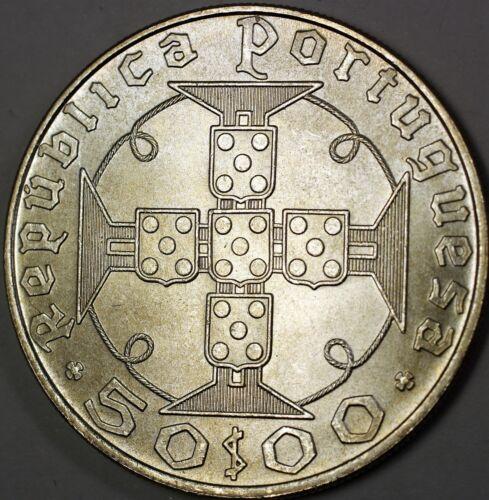1970 Saint Thomas and Principe $50 Commemorative BU Silver Centenario Coin