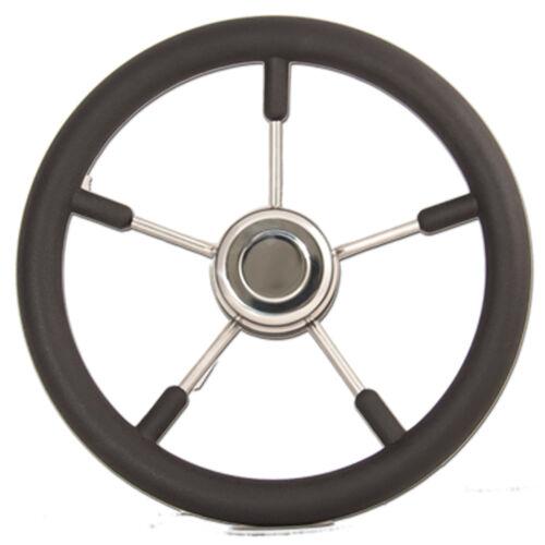 """Quality Boat Steering Wheel 5 Spoke S//Steel 3//4/"""" Taper Ultraflex"""