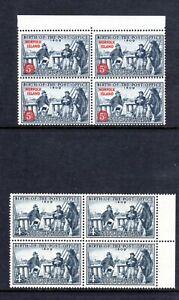 1959-MUH-150th-ANNIV-of-AUST-Post-BIRTH-4d-BLUE-BLOCK-of-4-amp-NORFOLK-Is