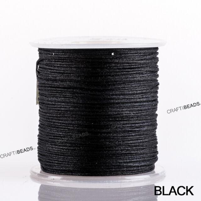 0.8mm Superior Quality Nylon Chinese Knot Cord Shamballa Macrame Beading 100Yard