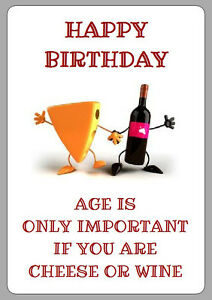 Image Is Loading 8 FUNNY BIRTHDAY WINE Amp CHEESE LABELS STICKERS