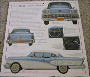 "Vintage 1958 Buick Limited Riviera Sedan Automobile illustration Poster 11/""x19/"""