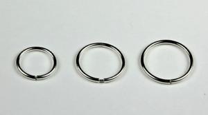 Sterling Silver Seamless Nose Tragus Cartilage Lip Septum Hoop Ring 16g 18g 20g