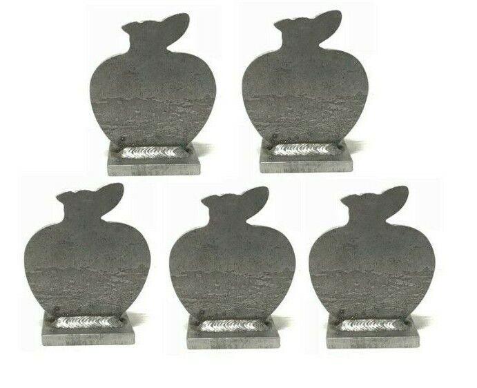 AR500 Apple silueta Acero Knock-sobre objetivo 3 8  Conjunto de 5
