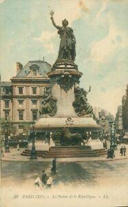 Paris, La Statue De La Republique postcard (LL - Levy Fils. No. 96) 1900s