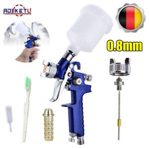 MINI HVLP Lackierpistole Spritzpistole Druckluft Farbspritzpistole Düsen 0.8mm