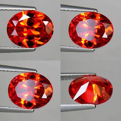 Cts Brilliant Oval 16x12 mm IF 16 Lab CZ Orange Sapphire Gem AAA A26