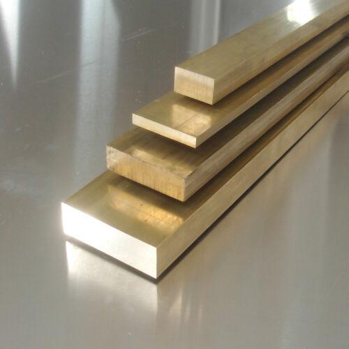Messing flach 50x15mm Länge wählbar Ms58 Flachstange CuZn39BP3 Vierkant Stab