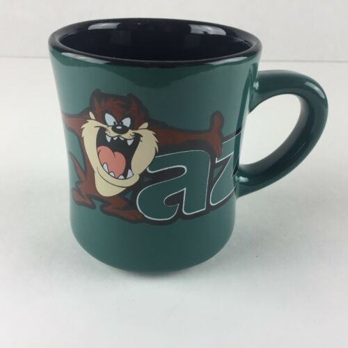 1996 Warner Brothers Studio Store Exclusive TAZ Tasmanian Devil Coffee Green Mug