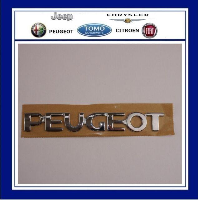 GENUINE PEUGEOT 106 CHROME PLASTIC REAR BADGE EMBLEM LOGO BOOT TAILGATE NUMBERS
