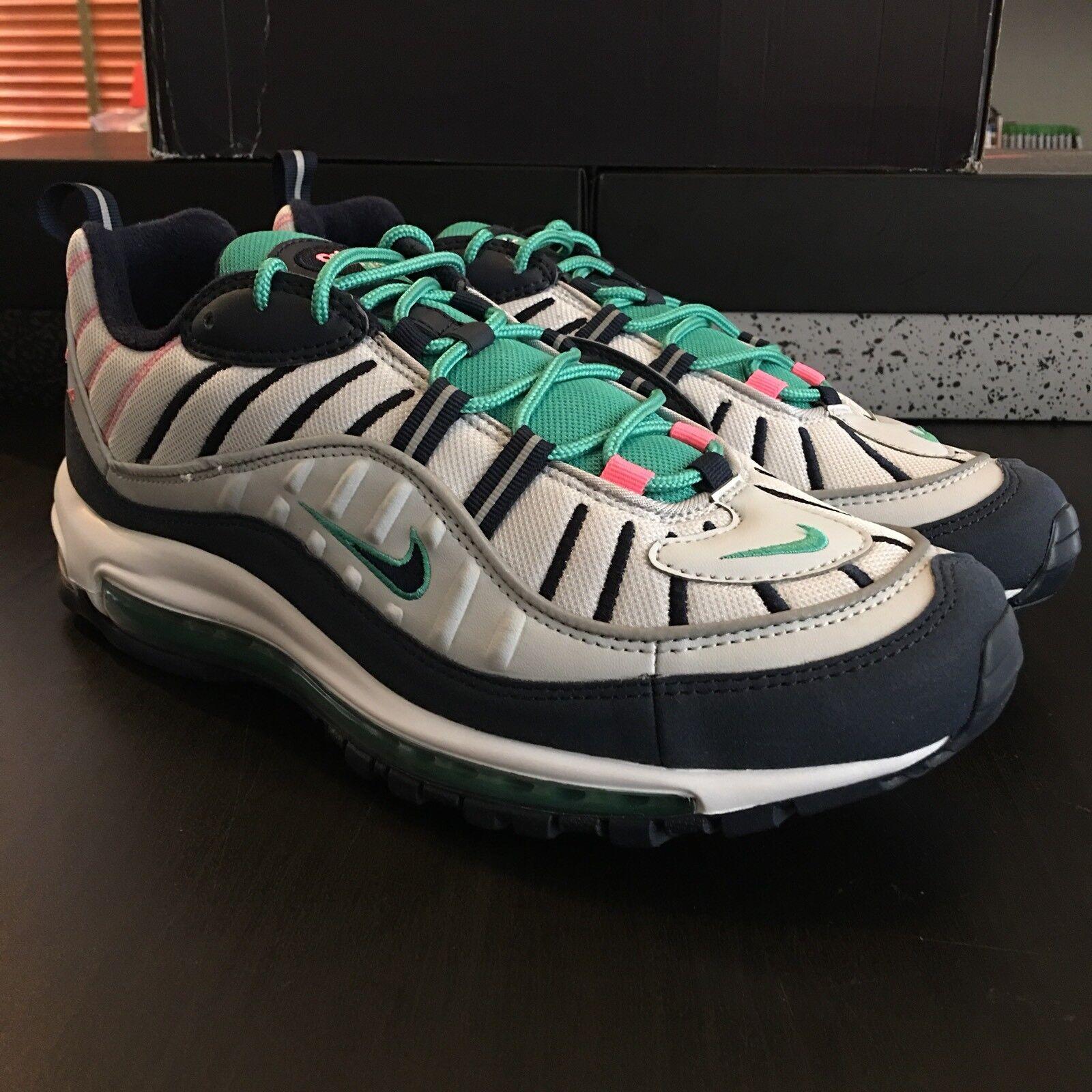 Nike Air Max 98 Men's Size 11 South Beach 640744-005 Pure Platinum Obsidian