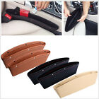 Leather Catch Catcher Box Car Seat Gap Slit Pocket Storage Organizer Leakproof