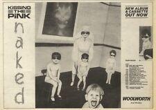 4/6/83PN42 ADVERT: KISSING THE PINK ALBUM & CASSETTE NAKED 7X11