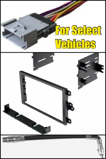 Double Din Stereo Radio Install Dash Kit Wire Harness Antenna Adapter select GM