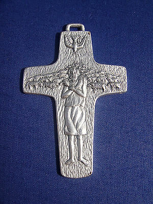 Original Vatican Pope Francis' Pectoral Cross Crucifix handmade blessed by Pope