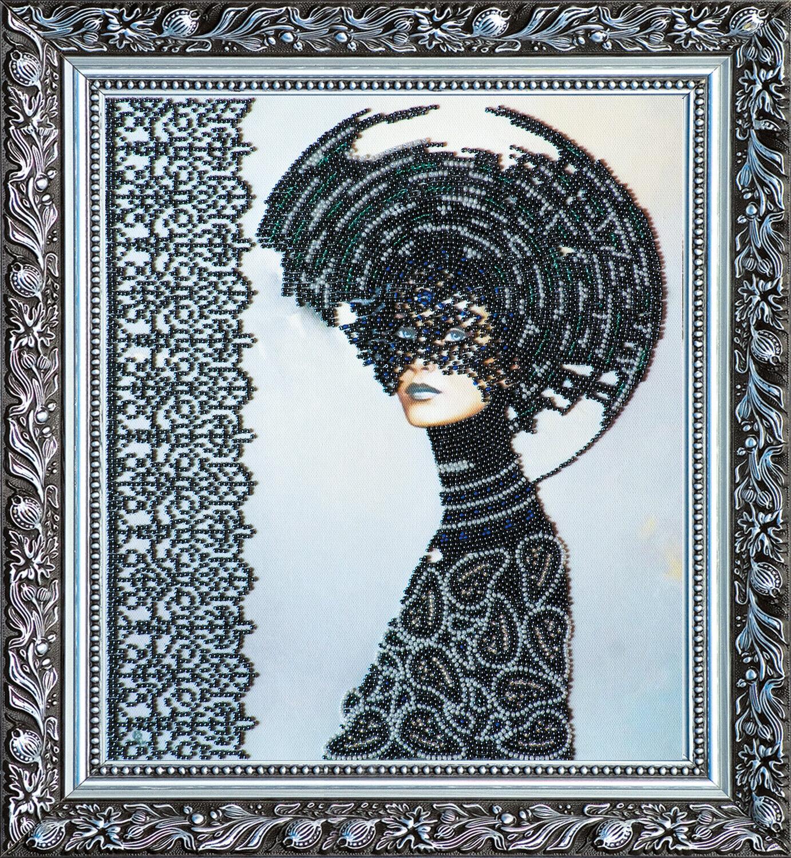 "Bead Embroidery DIY Kit /""Red Rose/"" 24.8/""х11.8/"""